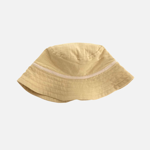 Organic Cotton Bucket Hat - Honey