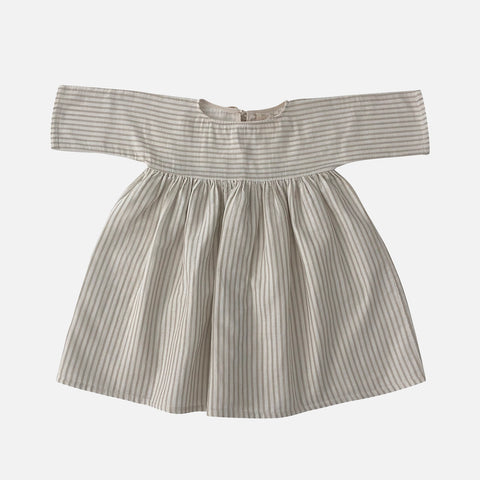 Organic Cotton Liilu Dress - Sandy Stripes