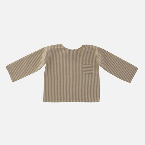 Organic Cotton Ovidiu Shirt - Sandy Stripes