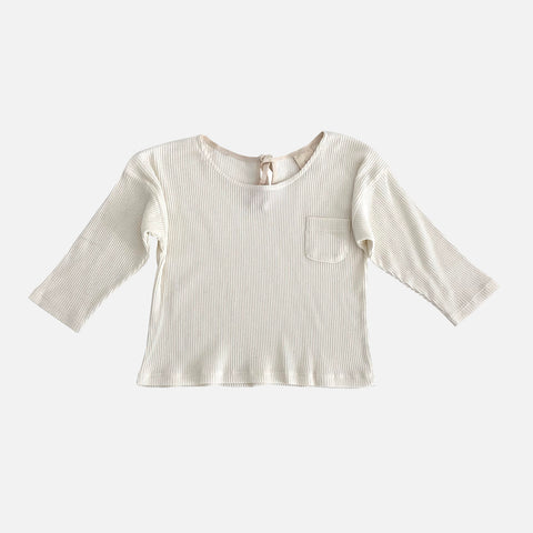 Organic Cotton Rib Shirt - Milk