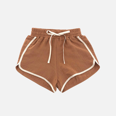 Organic Cotton Shorts - Terracotta