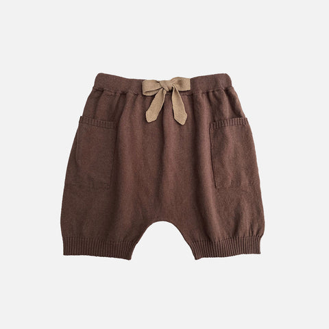 Knitted Cotton/Linen Nye Shorts - Cedar/Willow