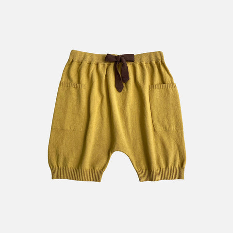 Knitted Cotton/Linen Nye Shorts - Dandelion/Sand