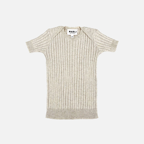 Knitted Cotton/Linen SS Skinny Rib - Sand