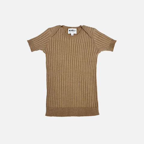 Knitted Cotton/Linen SS Skinny Rib - Willow