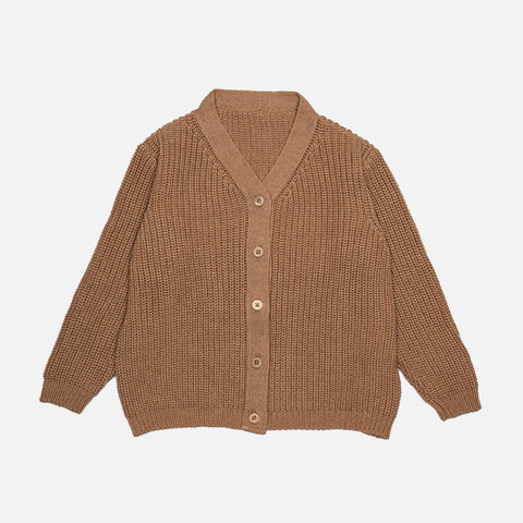 Adult's Organic Wool/Cotton Cardigan - Doe