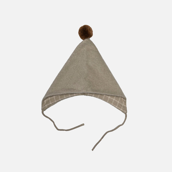 Organic Cotton Fleece Bonnet - Fog