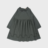 Organic Cotton Mimosa Dress - Pine Green - 18m-8y