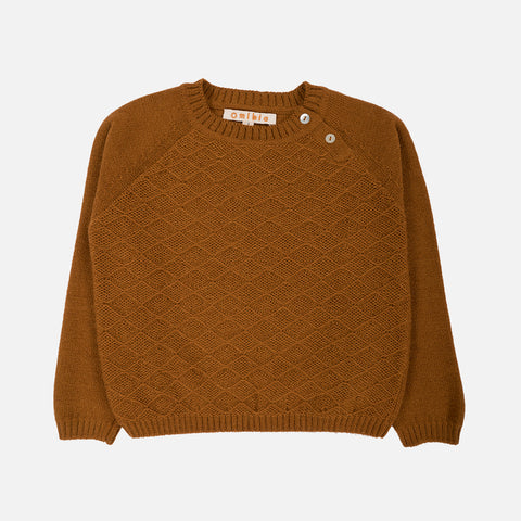 Alpaca Oli Sweater - Bronze - 2-10y