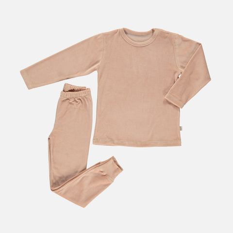 Organic Cotton Velour Arbousier Pyjamas - Maple Sugar