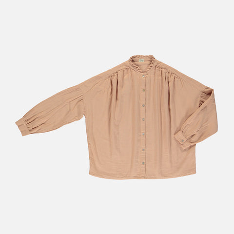 Women's Organic Cotton Amande Blouse - Maple Sugar