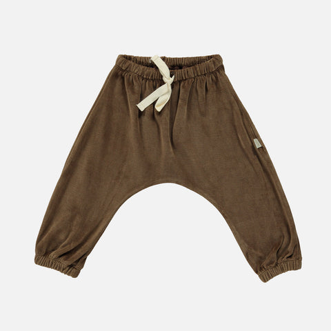 Organic Cotton Velour Cannelle Pants - Carafe