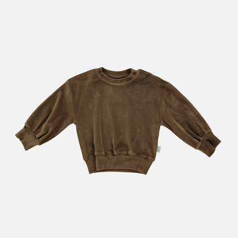 Organic Cotton Velour Cedrat Sweatshirt - Carafe