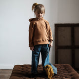 Organic Cotton Citron Hooded Sweatshirt - Brown Sugar