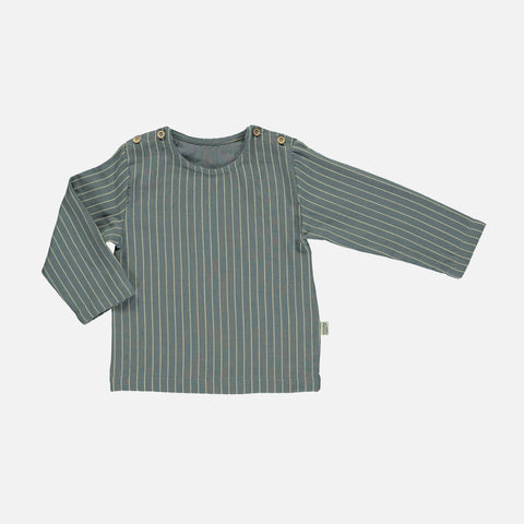 Organic Cotton Houblon LS Blouse - Stormy Weather Stripes