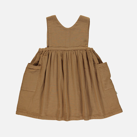 Organic Cotton Mangue Dress - Brown Sugar