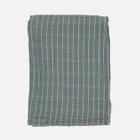 Organic Cotton Small Muslin/ Kids Scarf - Stormy Weather Stripes