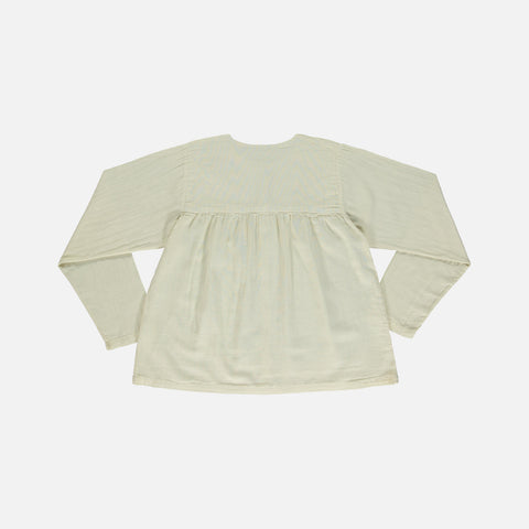 Organic Cotton Romarin LS Blouse - Almond Milk