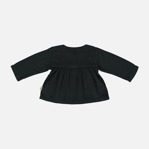 Organic Cotton Romarin LS Blouse - Pirate Black