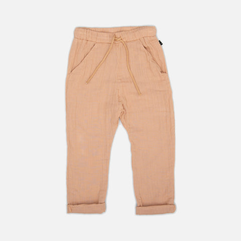 Organic Cotton Pocket Pants - Apricot