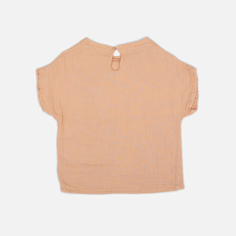 Organic Cotton Shirt - Apricot