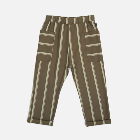 Organic Cotton Side Pocket Pants - Forest