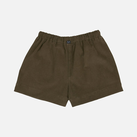 Organic Cotton Corduroy Shorts - Olive