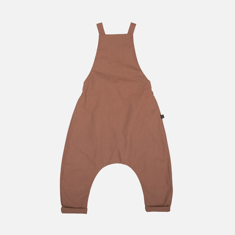 Organic Cotton Dungarees - Soil