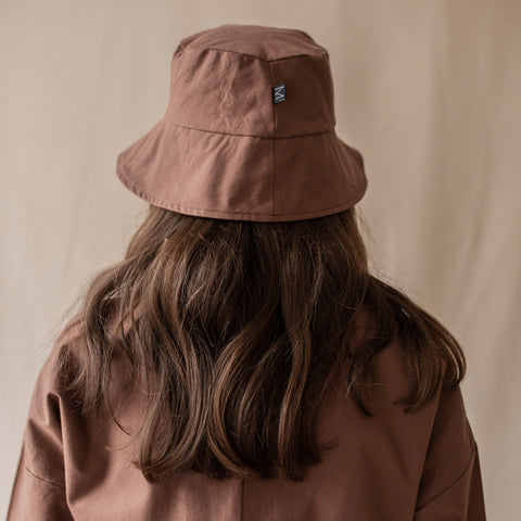 Adult's Organic Cotton Sun Hat - Soil