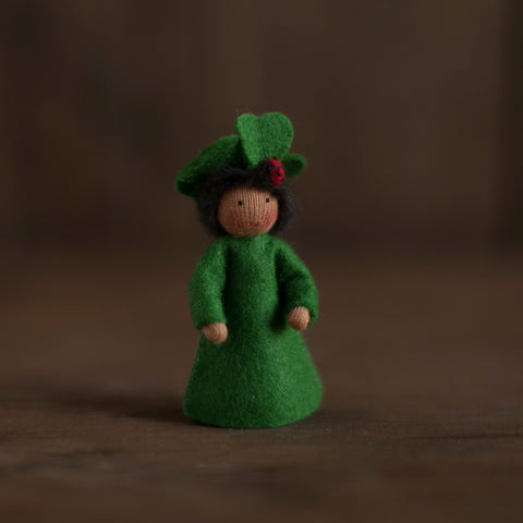 Handmade Small Wool Flower Fairy - Clover Boy