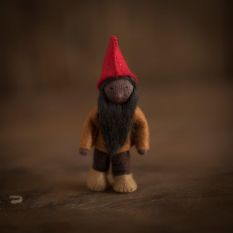 Handmade Small Pocket Gnome - Oak