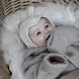 Baby Alpaca Rabbit Bonnet - Natural