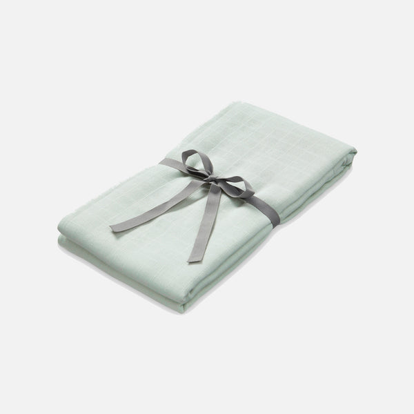 Organic Cotton Muslin Swaddle - Mint