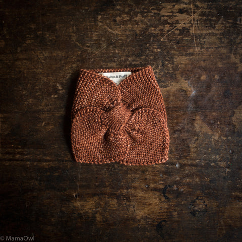 Exclusive Hand Knit Merino Wool Sledding Scarf - Terracotta