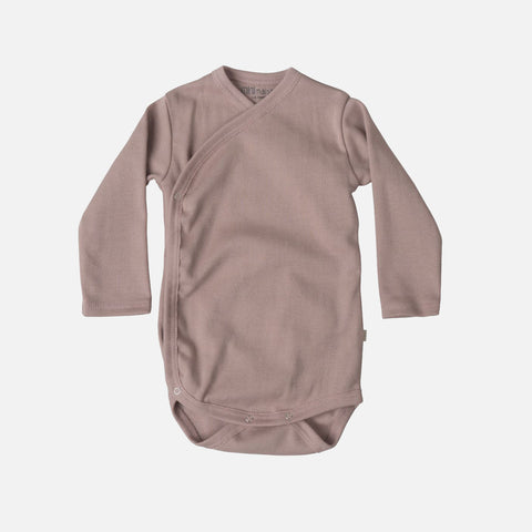Organic Cotton Morris Long Sleeve Body - Dusty Rose - 0m-6m