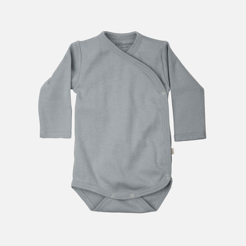 Organic Cotton Morris Long Sleeve Body - Powder Blue - 0m-6m
