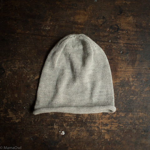 Adults Alpaca Beanie - Light Grey