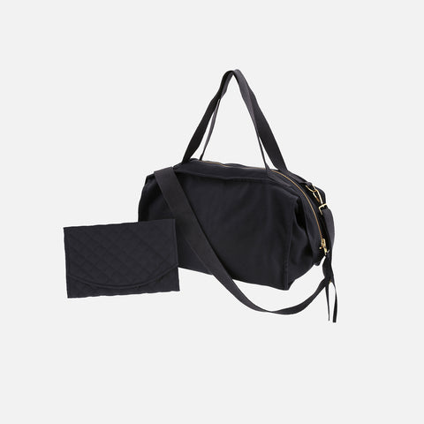 Cotton Canvas Changing Bag - Navy