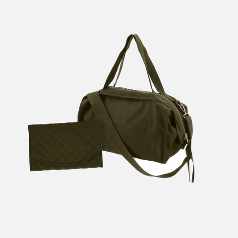 Cotton Canvas Changing Bag - Forest Green