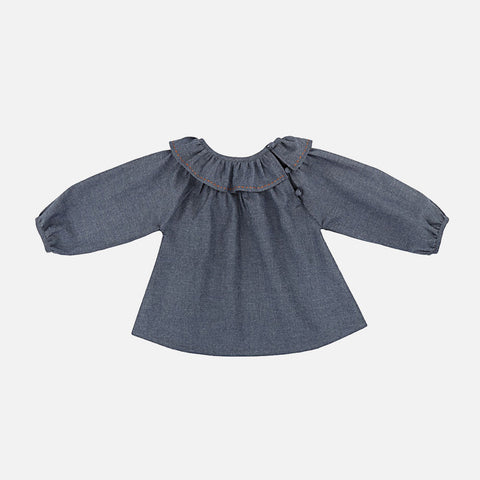 Colombine Blouse Nanu - Chambray Blue - 6m-2y