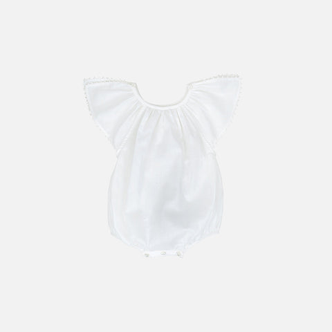 Cotton Carmensita Romper - White - 6m-3y