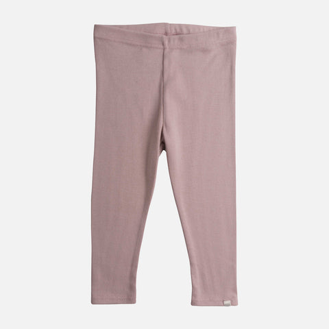 Organic Cotton Nice Leggings - Dusty Rose - 1-10y