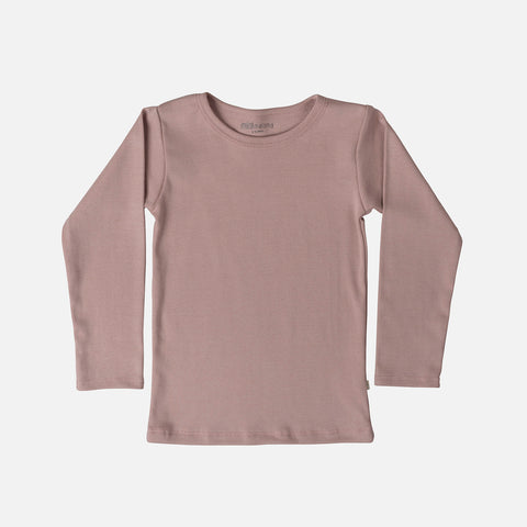 Organic Cotton Nimbus LS Blouse - Dusty Rose - 2-6y