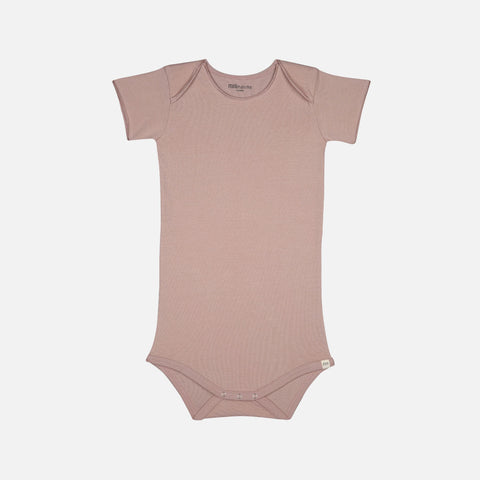 Organic Cotton Short Sleeve Body - Dusty Rose - 1-24m