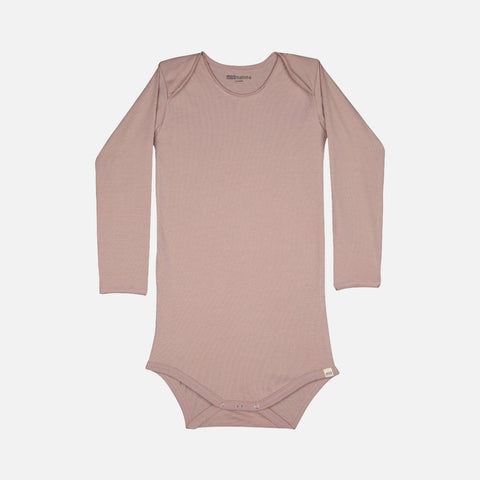 Organic Cotton Norge LS Body - Dusty Rose - 1m-3y