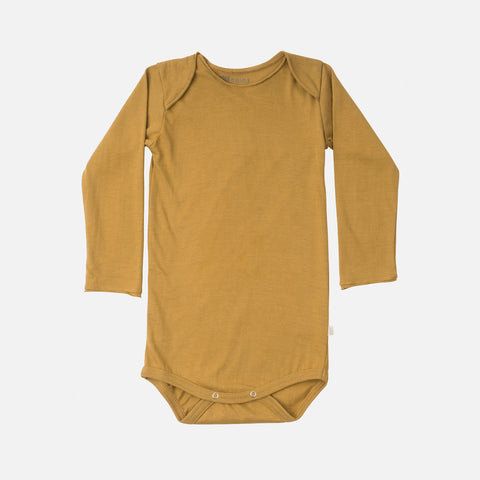 Organic Cotton Norge LS Body - Golden Leaf - 1m-3y
