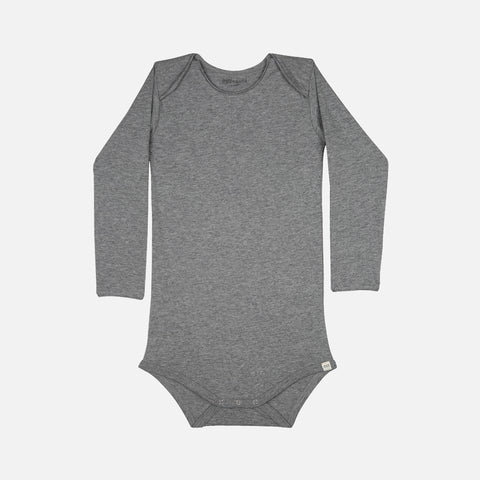 Organic Cotton Norge LS Body - Grey Melange - 1m-3y