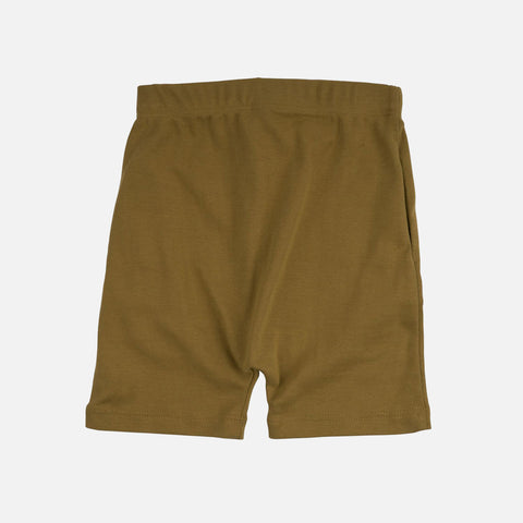 Organic Cotton Seamless Shorts - Golden Leaf - 2-10y