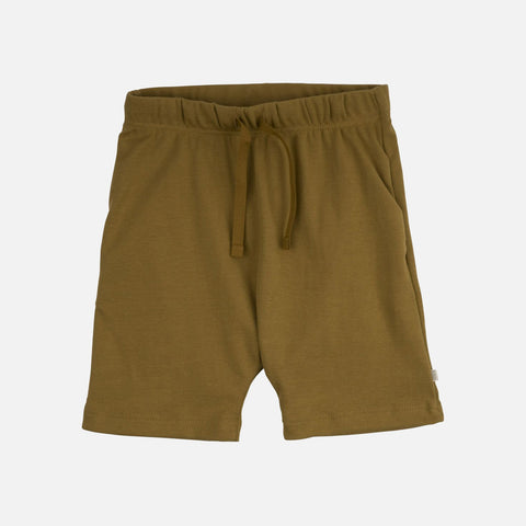 Organic Cotton Seamless Shorts - Golden Leaf