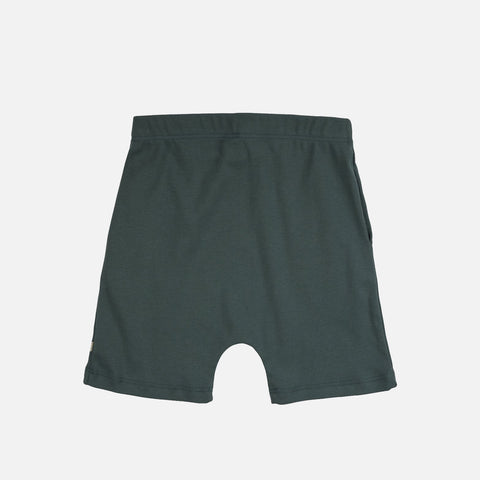 Organic Cotton Seamless Shorts - Lake Green - 2-10y